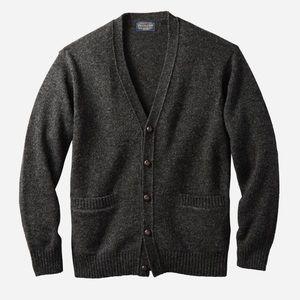 NWOT Men's Pendleton Gray Wool Sweater Cardigan